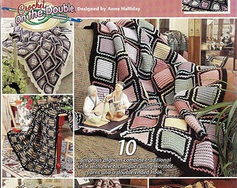 Grannies On The Double Afghans To Crochet Pattern Book Annie's Attic 873211
