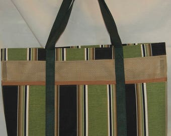 Green Mesh Tote Bag