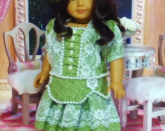 Victorian Dress, Hat, Bloomers and Tights - Fits American Girl Doll Samantha