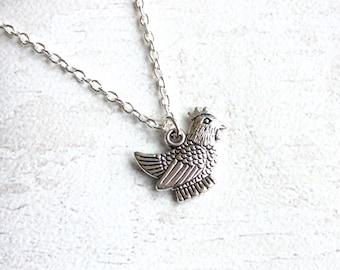 Hen Necklace, Chicken Keeper Gift, Chicken Necklace, Chicken Pendant, Chicken Jewellery, Hen Party, Hen Party Jewellery,
