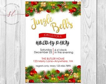 Jingle Bells Holiday Invitation