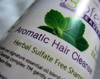 Herbal Shampoo. Natural Hair Care. Essential Oils.  8 oz. Single  Bottle.   Lavender. Peppermint. Rosemary.