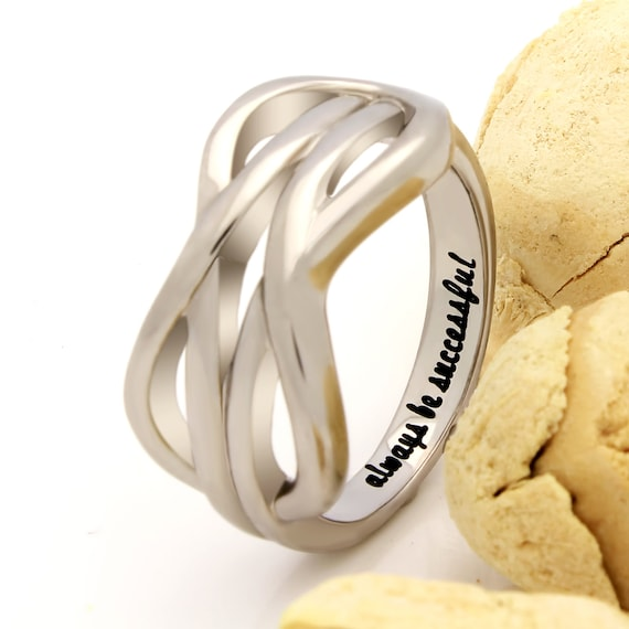 Infinity Ring Promise Ring Double Infinity Symbol Ring