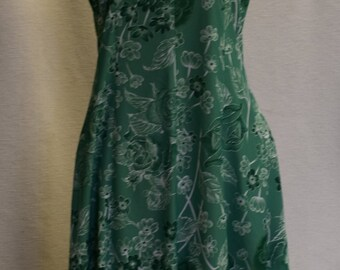 Vintage A-line Green Summer Dress