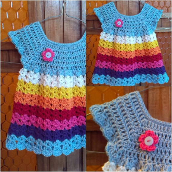 Items similar to Crochet baby dress or tunic pattern on Etsy
