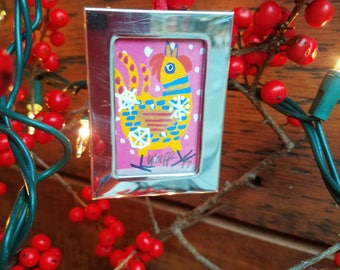 "Rooster crows: ""Hooray for Snow!""  a one-of-kind, thoughtful ornament gift for the snow lover on your list."