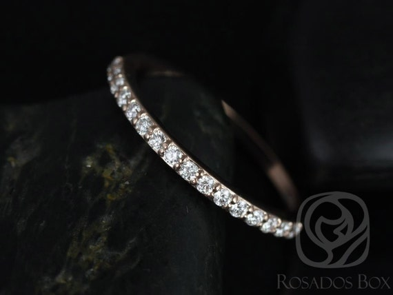 Rosados Box 14kt Rose Gold Matching Band to ALL Taylor Diamond HALFWAY Eternity Band