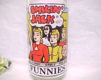 Smilin' Jack Gets Married Sunday Funnies Drinking Glass, Collectible Vintage Comic Strip Characters, 1976 New York News Inc. Promo Tumbler