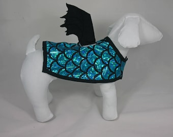 """Demon"" or ""Dragon"" Blue Dog costume"