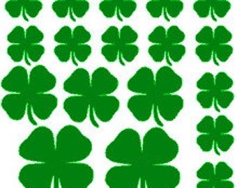 4 leaf clovers, Shamrocks, Iron on four leaf clovers,  clovers, clover heat transfer, St. Patricks day, Lucky clovers