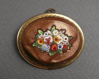 GF Goldstone mosaic brooch / pendant