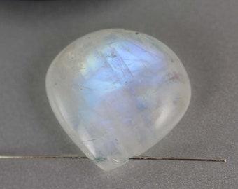 Rainbow Moonstone Beads - 23mm - Rainbow Moonstone - Heart Briolette