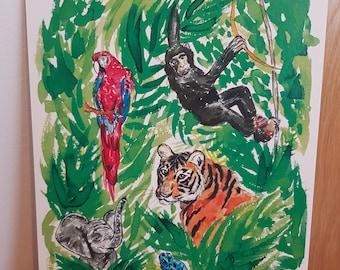 A4 jungle print