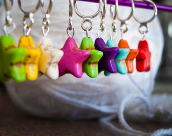 Stars! Stitch Markers (Set of 6)