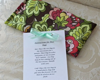 Therapeutic Rice Bag, Heating Pad, Hot Therapy Bag, Ice Pack, Flowers, Floral, Fiona's Fancy