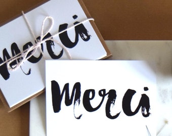Merci - Thank You Notecards