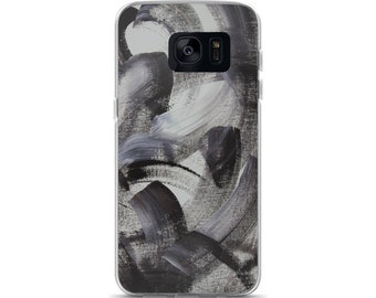 Black and white phone case, Samsung Galaxy S7, S7 Edge case, Abstract Samsung Galaxy S8, S8+ case, Art phone case, Unique phone cover