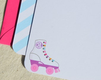 Personalized Notecards ~ Roller-skating!