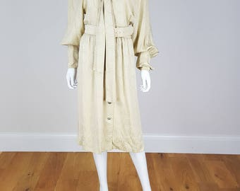 VINTAGE ALBERT NIPON Gold Silk Dress