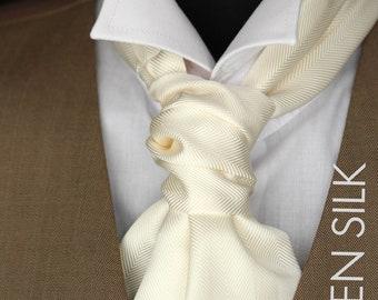Wedding Mens Ascot Mens Cravat Woven Silk Day Cravat Ascot Tie A013