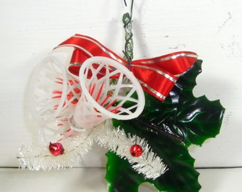 Vintage Christmas Bells, Holiday Decoration. Embellishment, Package Tie  (600-13)
