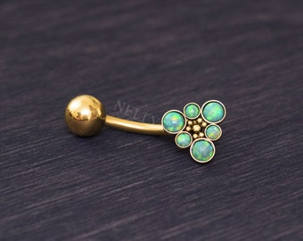 Belly Ring - Surgical steel belly jewelry, navel ring short