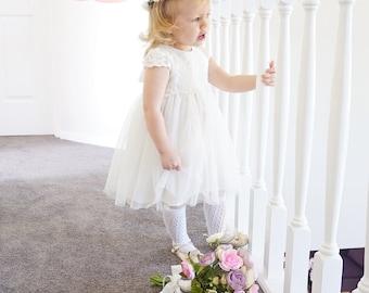 SERISSA - Flower Girl Dress, Christening Gown, Girls Party Dress