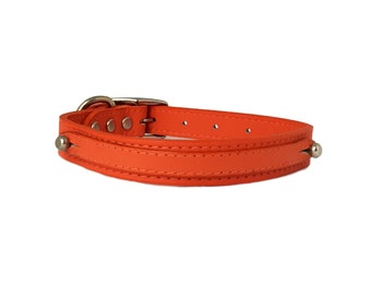 "18"" Simple and Elegant Leather Pet Collar"