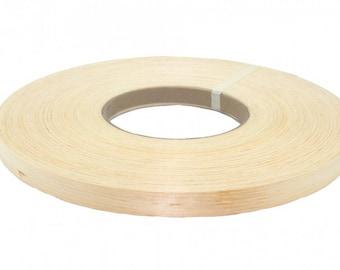 """White pine preglued Wood veneer edgebanding [1/2"""" to 3""""x250']"""
