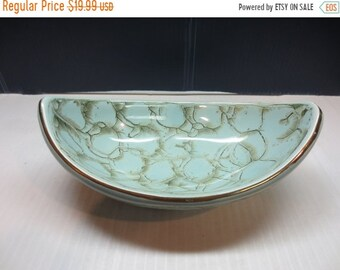 Whole Shop on Sale Retro Handpainted Blue Delft Candy Bowl Dish Made In Holland with metallic marbelizing and gold trim