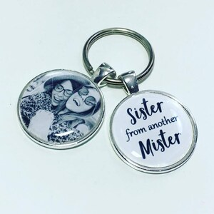 Sister from another Mister personalised photo keyring, Step Sister keyring,  gift for Half sister