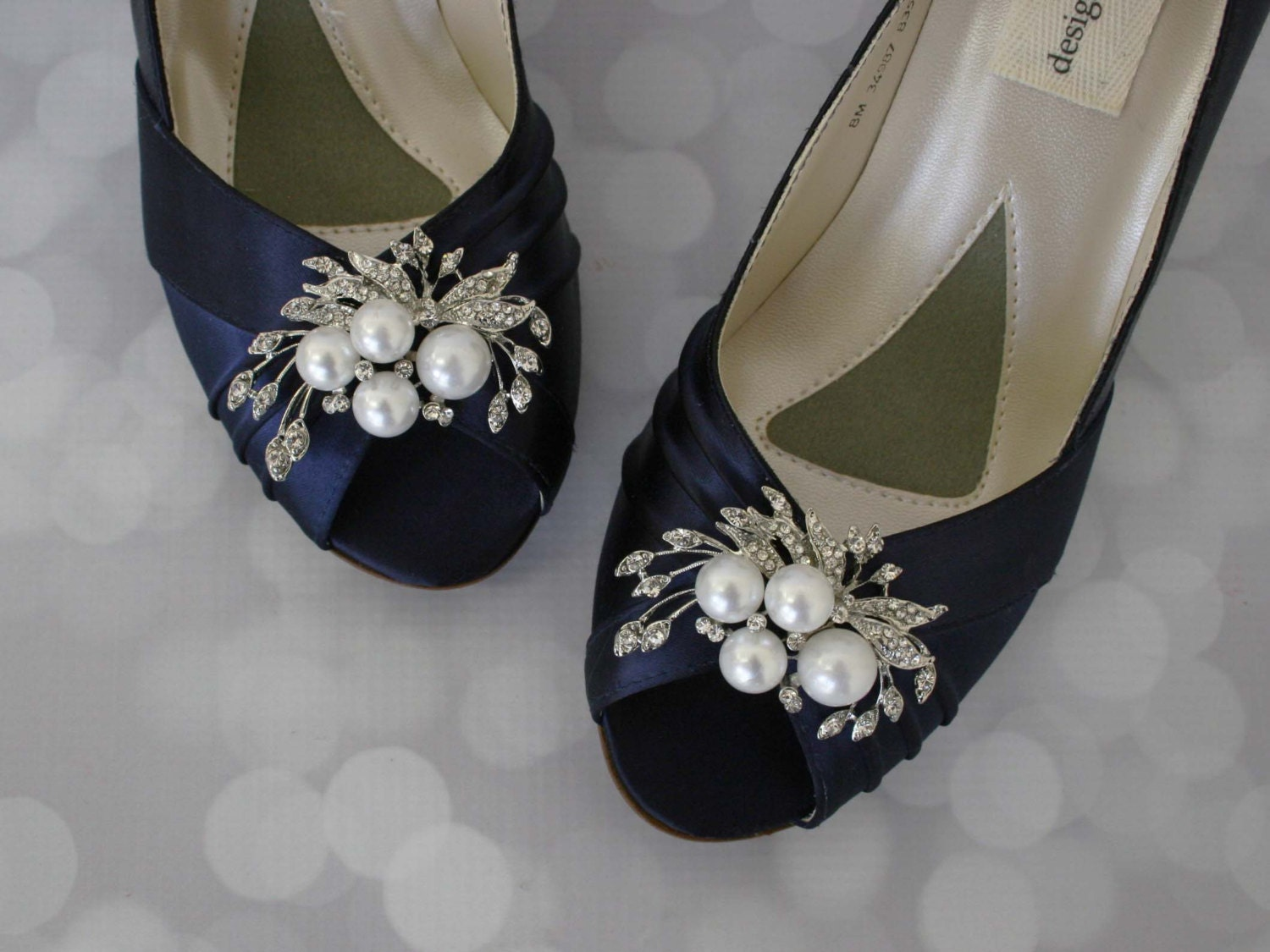 Wedding Shoes Navy Wedding Shoes Pearl Bridal Shoes Bride