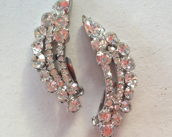 Juliana D&E Clear Rhinestone Climber Earrings 0495