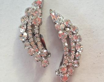 Juliana D&E Clear Rhinestone Climber Earrings 0495
