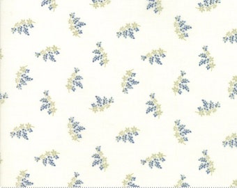 Victoria Ivory Blue Charlotte by 3 sisters for Moda 44166-23