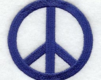 Peace Sign Embroidered Flour Sack Hand/Dish Towel