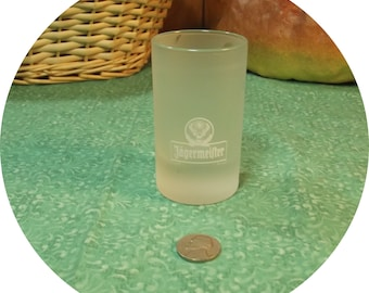 Nice Jagermeister Measuring Frosted  Shot Glass