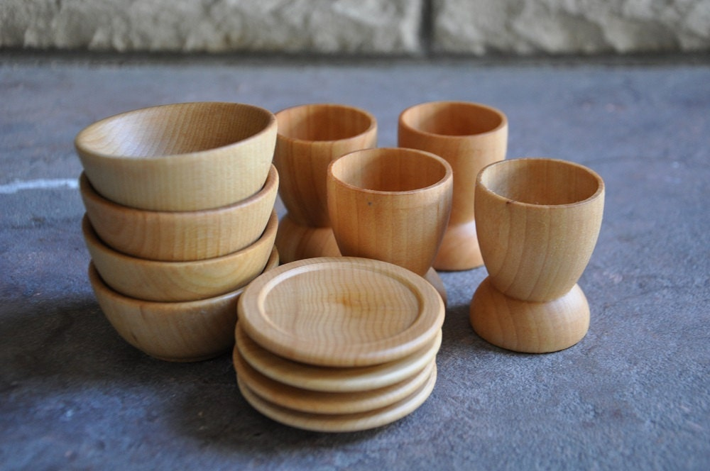 Wooden Toy Dishes A Waldorf and Montessori Inspired Pretend & Awesome Play Plates And Bowls Pictures - Best Image Engine ...