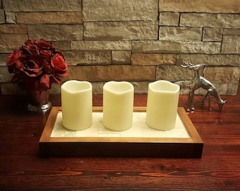 Stacked Stone Candle Holder