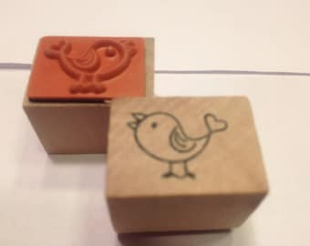 small bird stamp, 20 mm (A11)