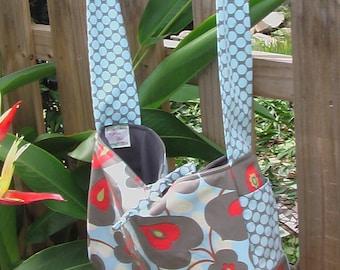 Amy Butler Morning Glory Fabric Messenger \/ Diaper Bag