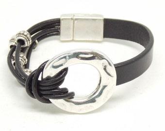 Beaded Bracelet, Leather Bracelets for Women, Bracelets, Leather Bracelet, Girlfriend Gift, Boho Bracelet, Bracelet, Leather Jewelry, Boho