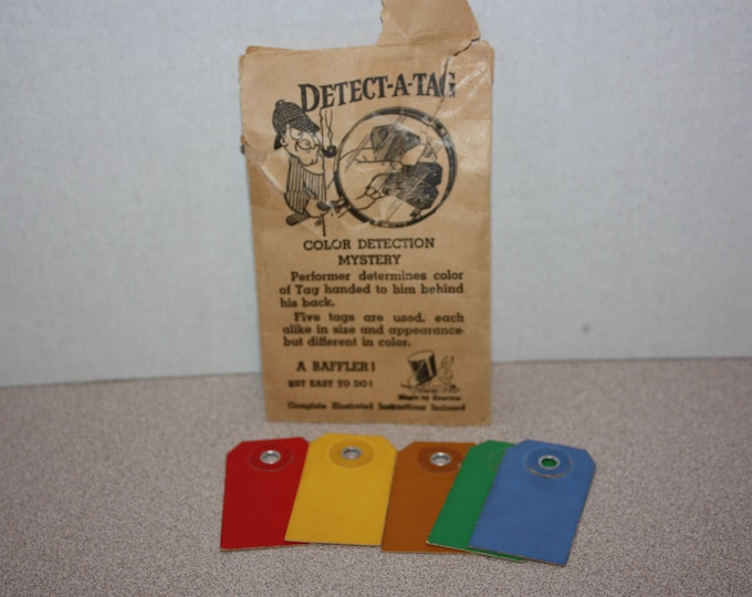Vintage Color Detection Mystery Magic Trick w/ Instructions in Envelope