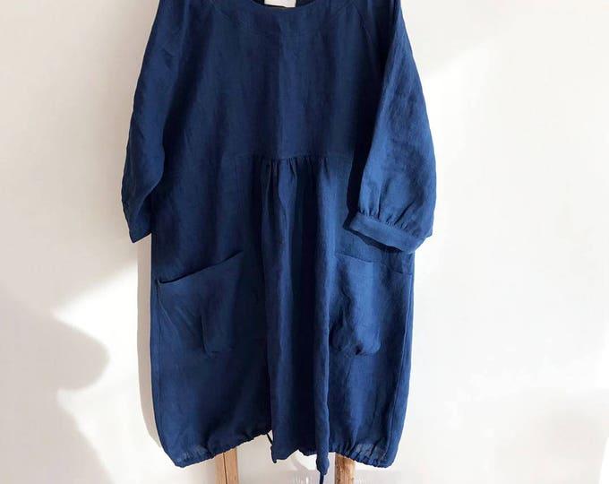 Felisia Dress in Dark Blue Sizes XXL-3XL