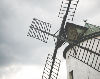 Windmill Digital Photo - Wind Mill - Windmill Photography - Countryside - Rural - Windmill - Digital Photo - Digital Download - Home Decor