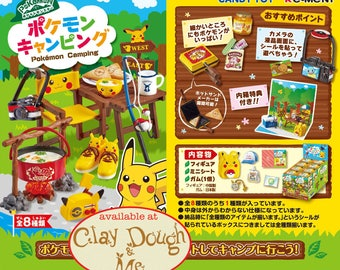 CLAYDOUGH & ME Re-ment Pikachu Camping, Re-ment Pokemon Camping, Re-ment Pokemon, Pokemon Re-ment, Pikachu re-ment, with DISPLAY
