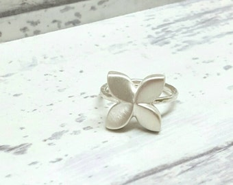 Pinwheel Flower Sterling Silver Flower Ring, Silver Ring, Flower Ring, Silver Pinwheel - RS5