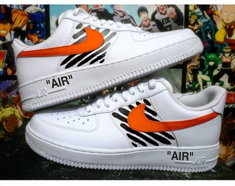 Custom Nike Air Force one,off white,off-white,custom sneakers ,