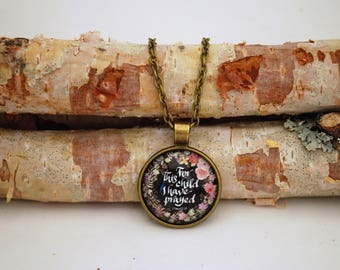 For this child I have prayed, Bronze Small Pendant Necklace