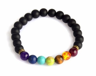 Sale -  Essential oil bracelet/Diffuser bracelet/Aromatherapy bracelet/Lava Bracelet/Essential oil jewelry/Yoga bracelet/7 chakras bracelet